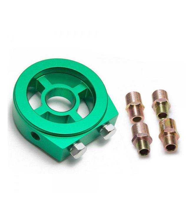 Oil Filter Cooler Sandwich Block Plate Adaptor | Green