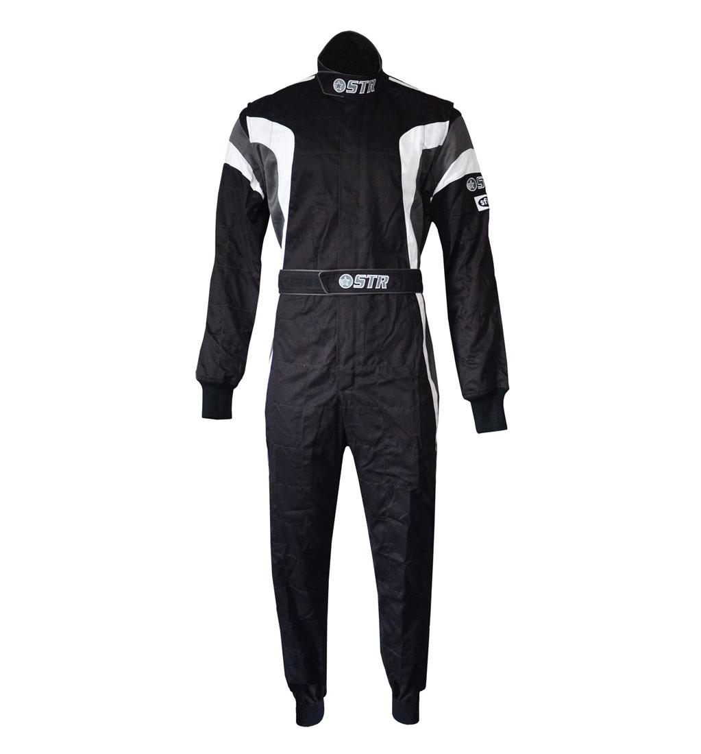 STR 'Podium' Race Suit - Black/White/Grey