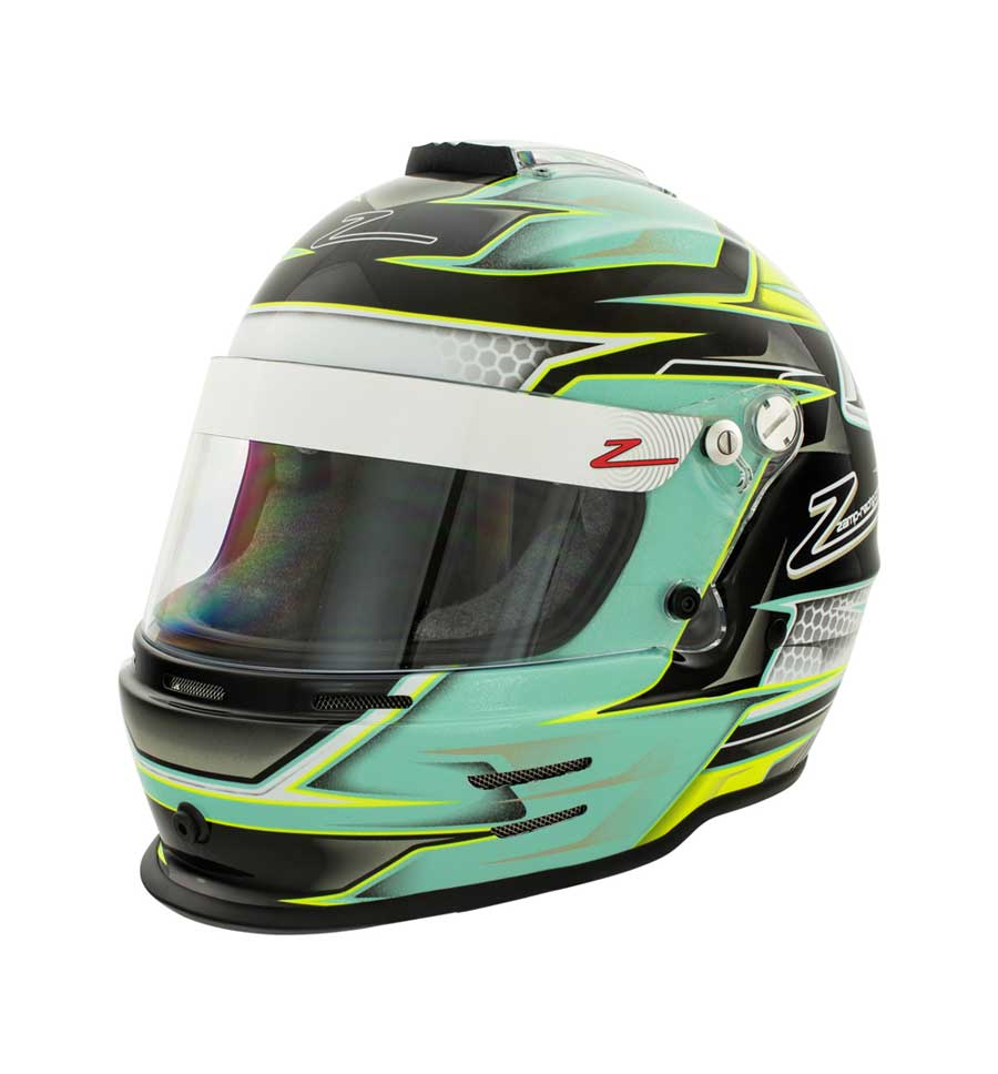 Zamp RZ 42 Youth Helmet CMR2016 - Green/Silver