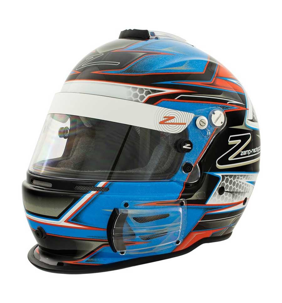 Zamp Helmet RZ 42 YOUTH - Orange/Blue - Youth 56cm