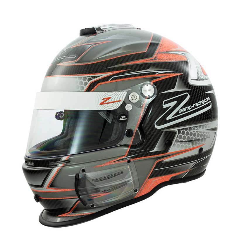 Zamp RZ 44 Helmet FIA 8859-2015 SA2015 - Carbon Orange