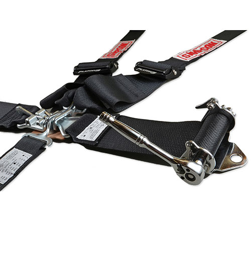"""Simpson 5-Point 3"""" to 2"""" Ratchet Harness - Black"""