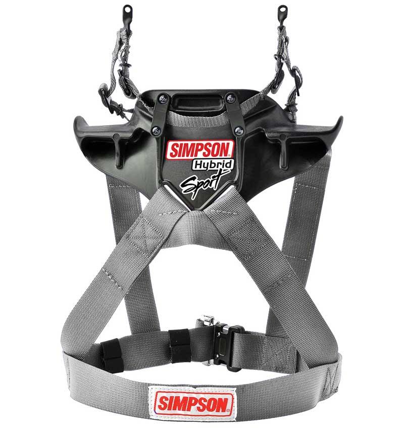 Simpson Hybrid Sport QR Head & Neck Restraint - Silver