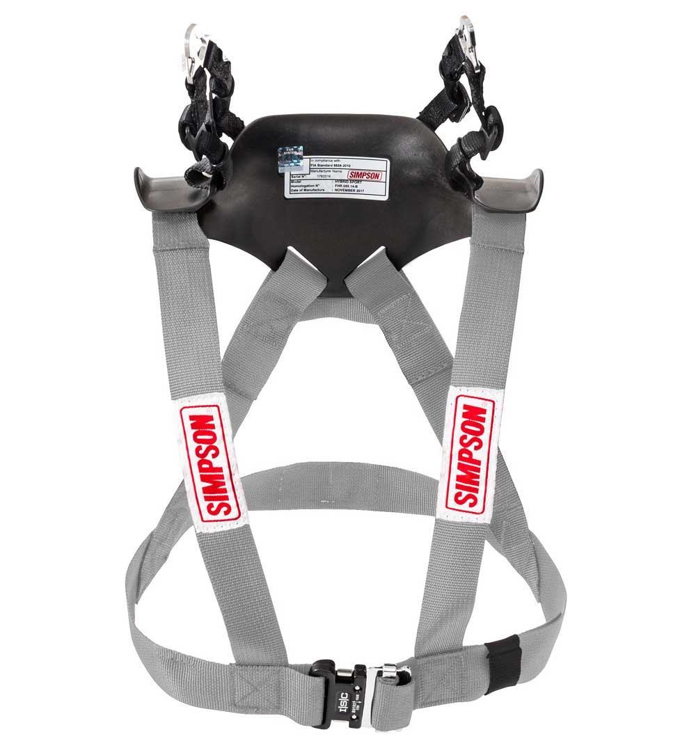 Simpson Hybrid Sport Head & Neck Restraint - Silver