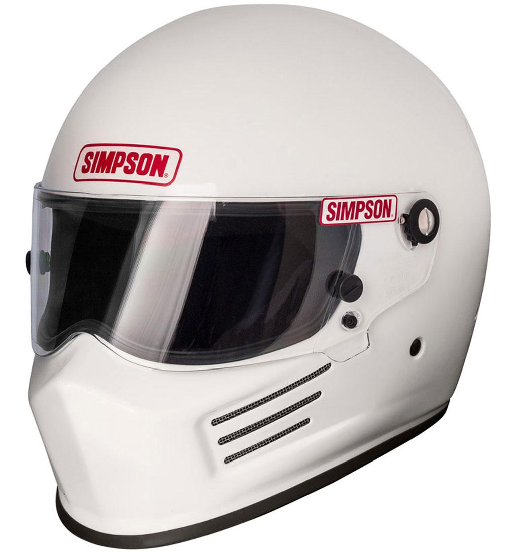 Simpson Bandit Helmet | SA2015 | White | XS