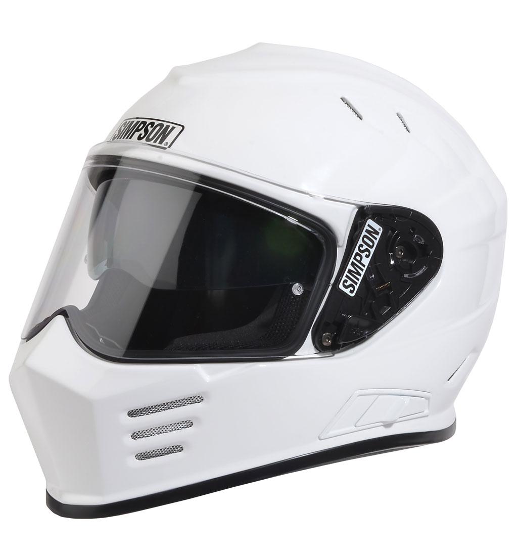 Simpson Venom Medium White ECE2205 DOT UK Road Legal