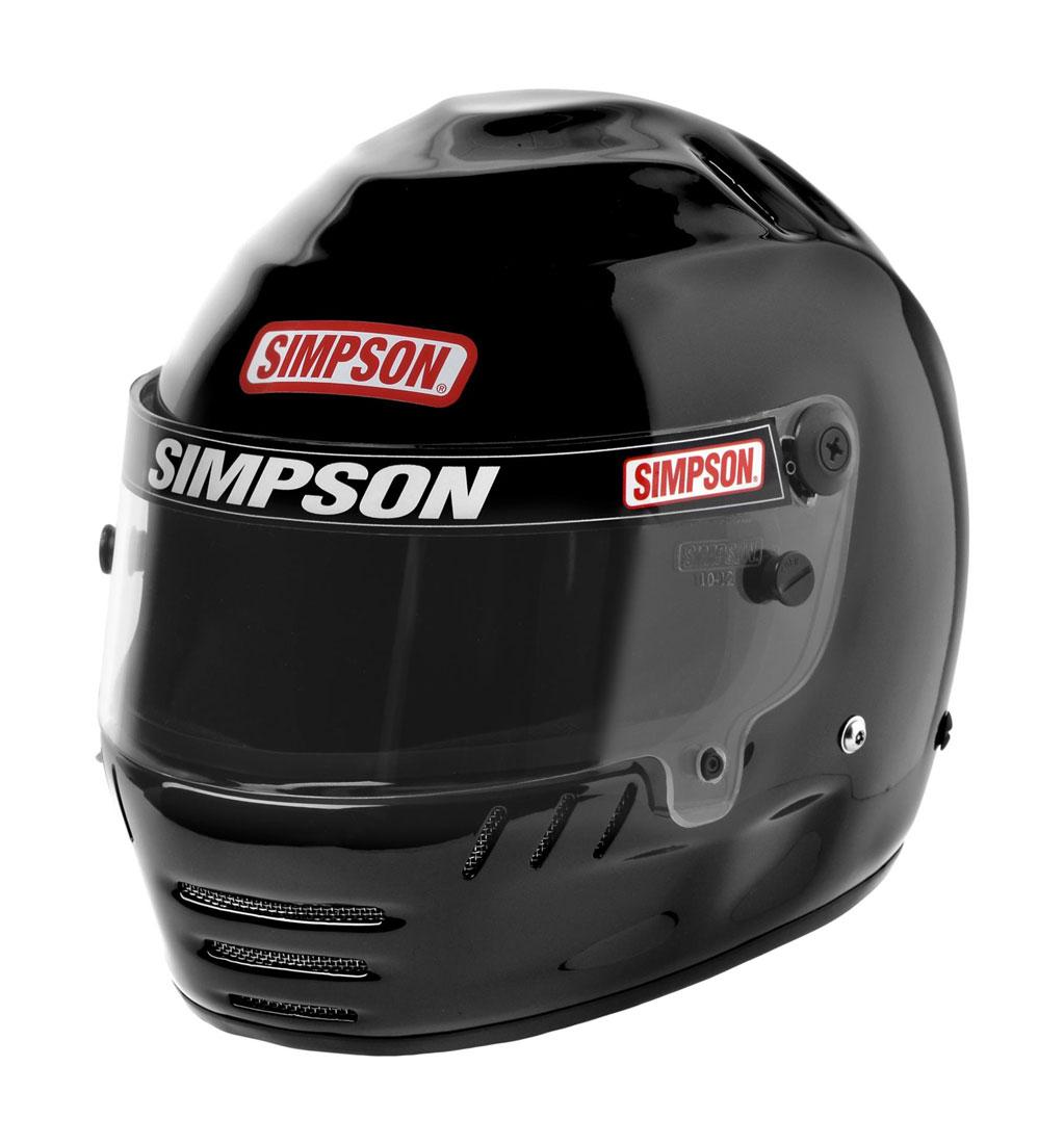 Simpson Jr. Speedway Shark Black SFI 24.1 Youth Medium
