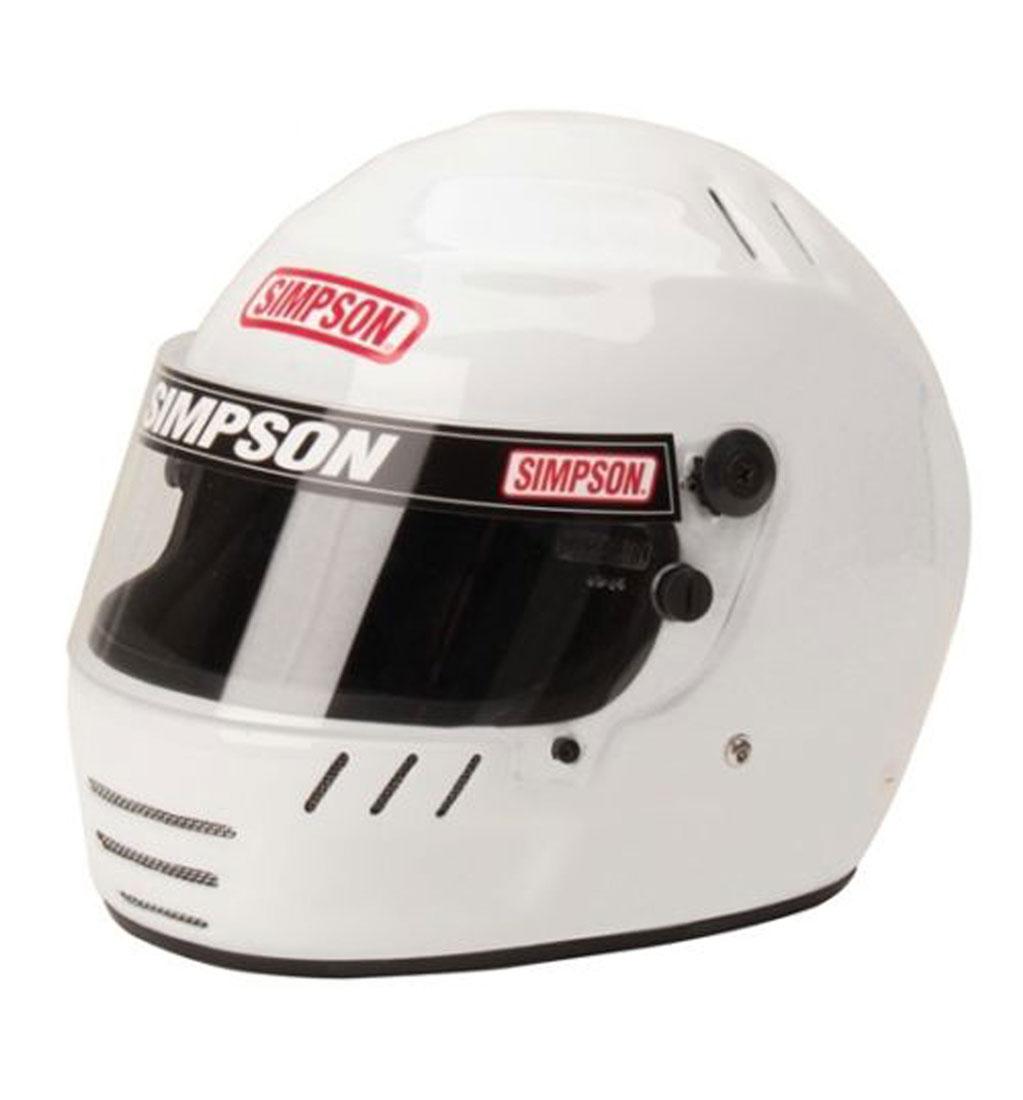 Simpson Jr. Speedway Shark White SFI 24.1 Youth Medium
