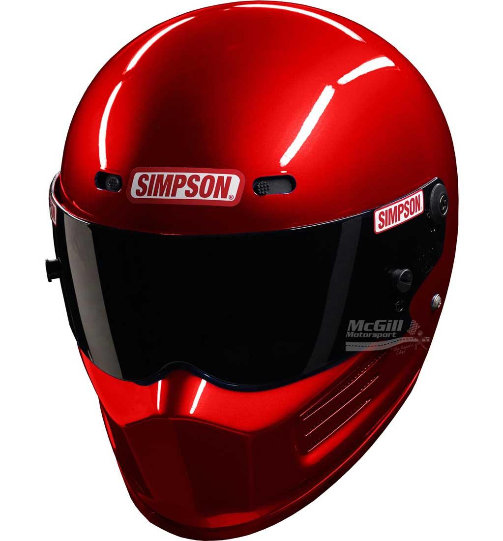 Simpson Super Bandit Helmet | SA2015 | Red | M