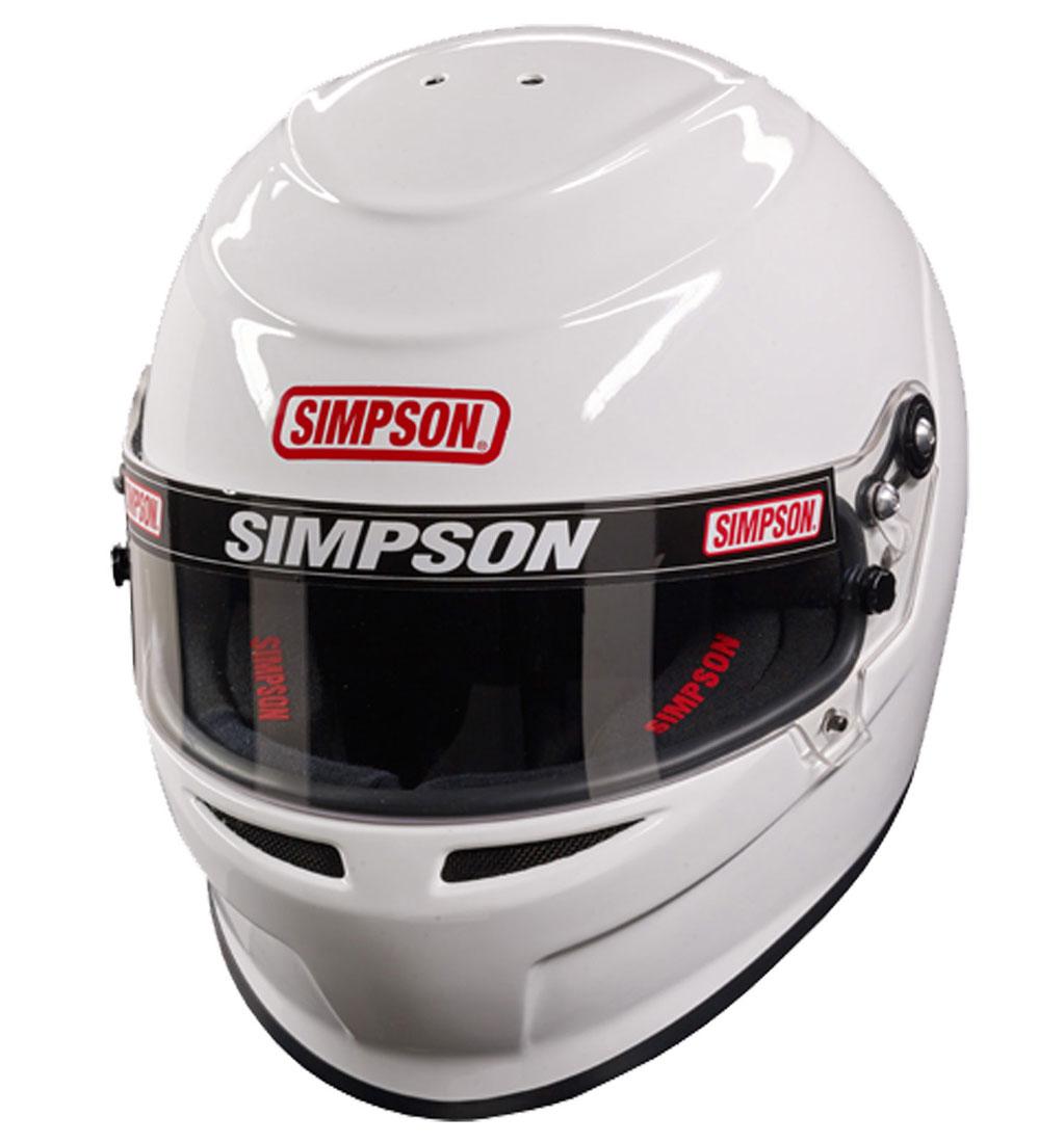 Simpson Venator Helmet SA2015 | FIA2015 White Medium