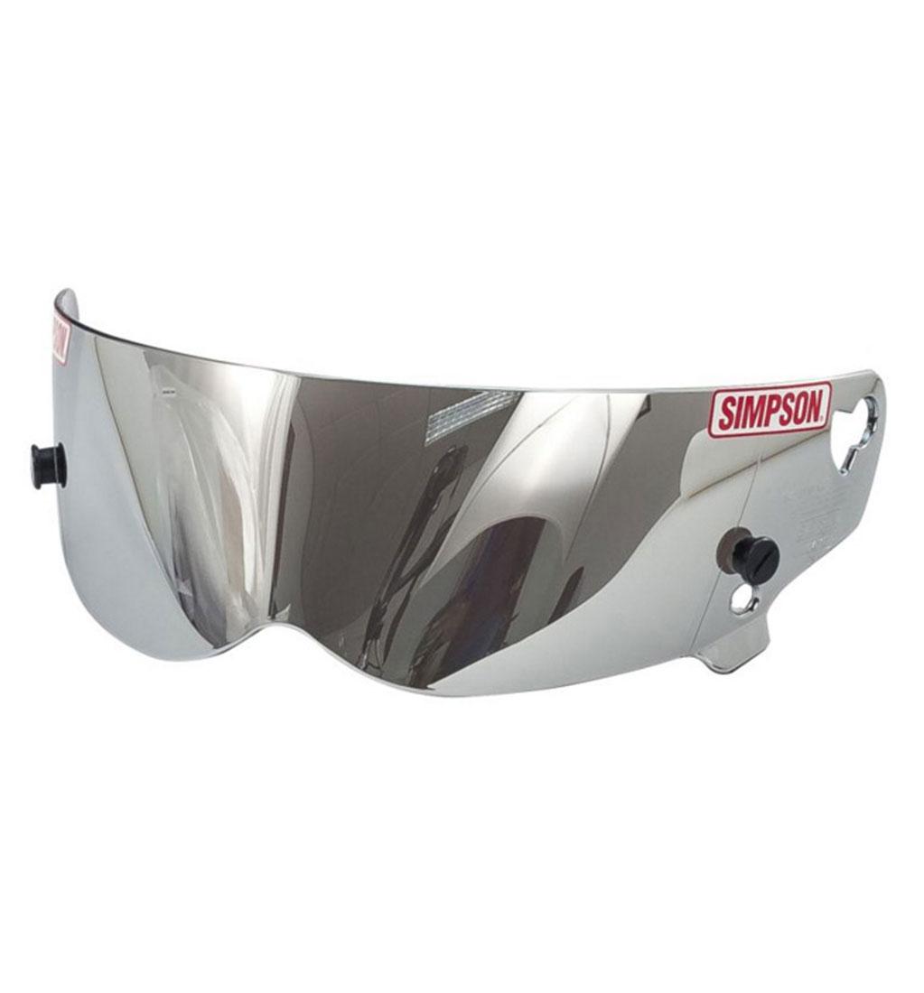 Simpson Bandit Visor Mirror/Silver