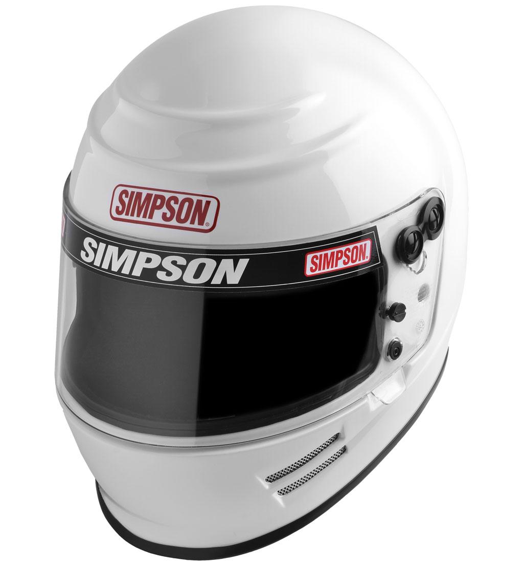 Simpson Voyager 2 Helmet | SA2015 | White | Medium