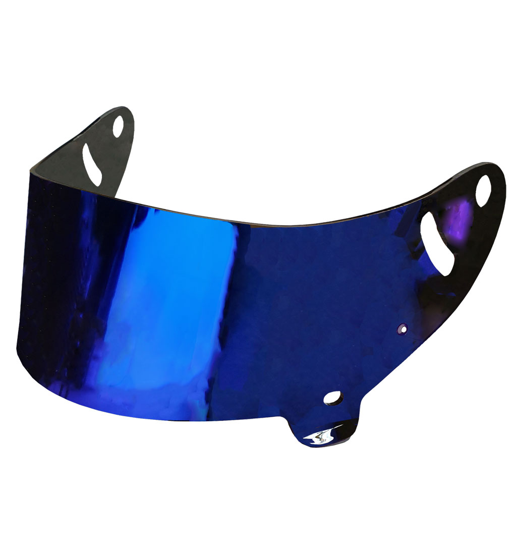 STR Visor for SR-1 Helmet (FIA AA) | Blue Iridium | Fits XL
