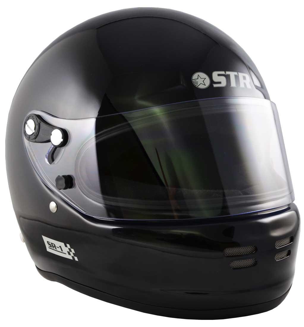 STR SR-1 Helmet FIA 8859-2015 SA2015 - Black