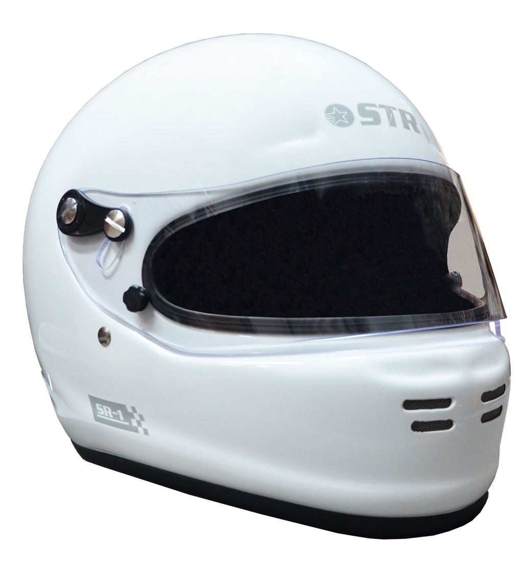 STR SR-1 Helmet - FIA 8859-2015 - SA2015 - Gloss White