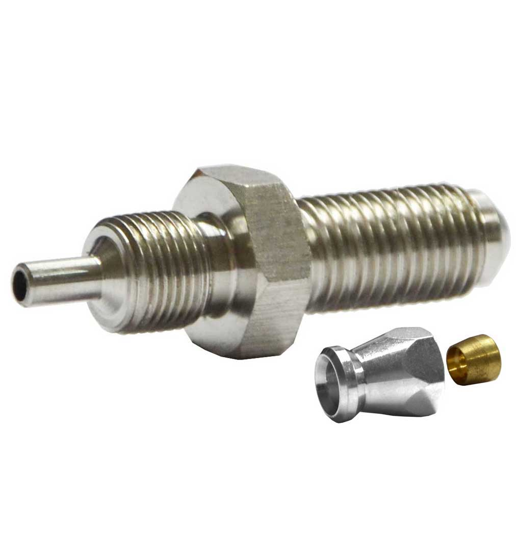 "M10x1mm (long) Male Convex Fitting for AN-3 (3/16"") - Stainless Steel"