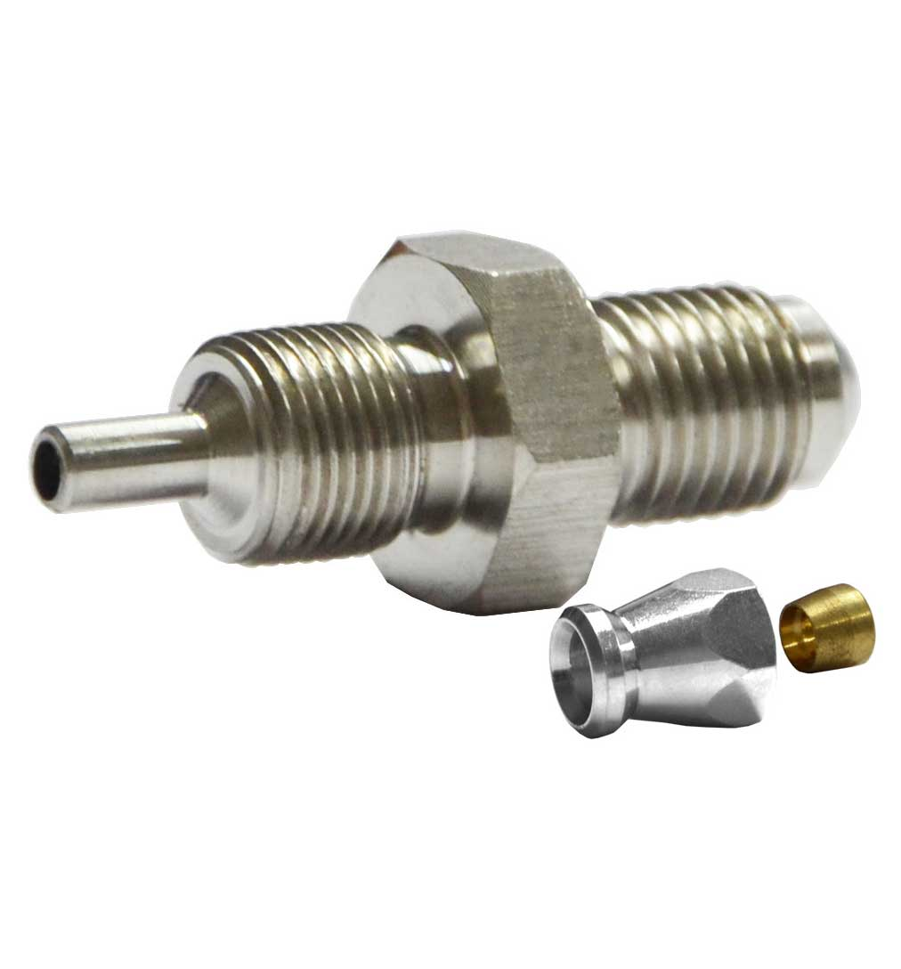 """M10x1mm Male Convex Fitting for AN-3 (3/16"""") - Stainless Steel"""