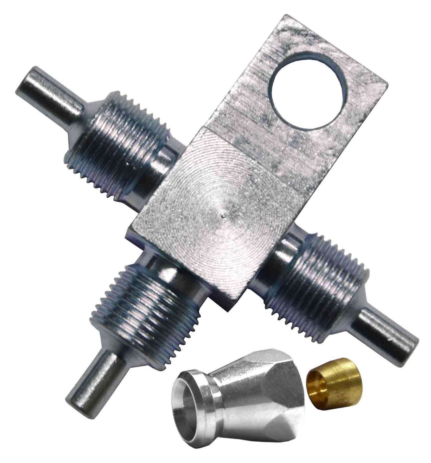 """3-Way T-Piece for AN-3 (3/16"""") - Stainless Steel"""