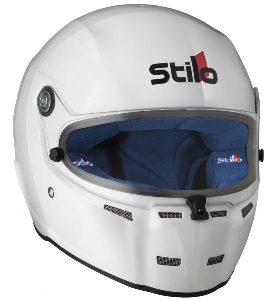 Stilo ST5 Helmet - CMR2016 - White + Blue Cheek Pads