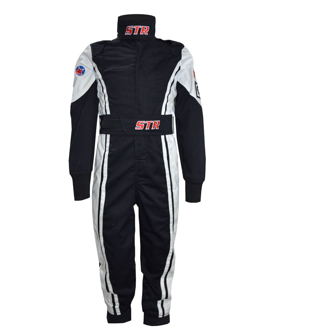 STR Youth 'Comfort' Race Suit - Black/White