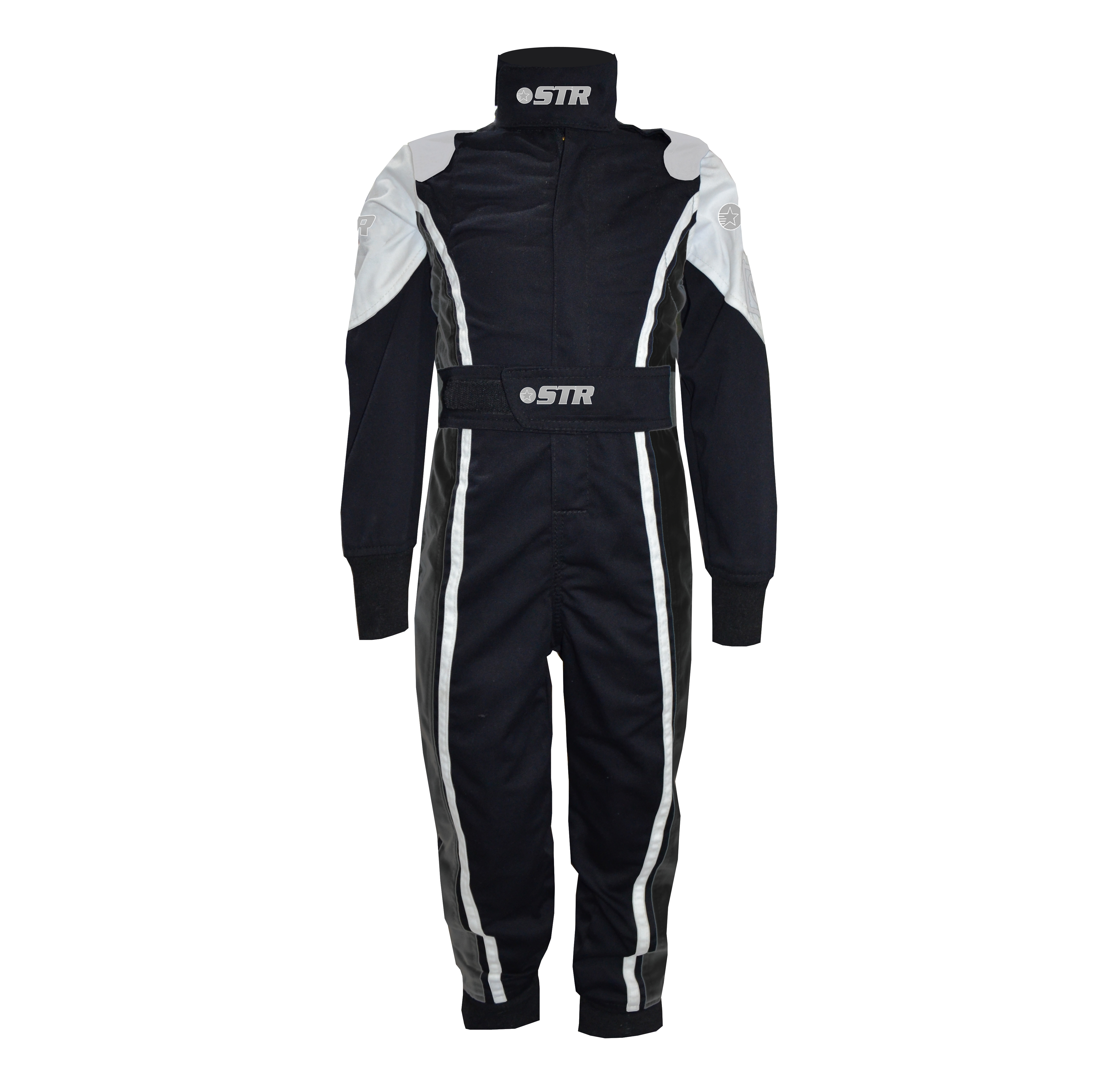 STR Youth 'Comfort' Race Suit - Black/White