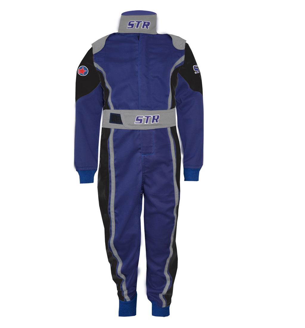 STR Youth 'Comfort' Race Suit - Black/Grey/Blue