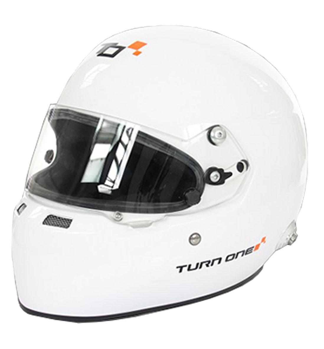 Turn One Full-RS Helmet | FIA8859-15  | White | Large (59)