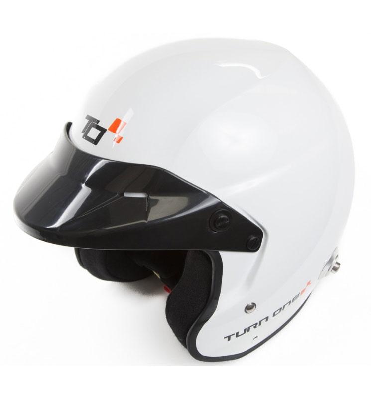 Turn One Jet-RS Helmet FIA8859-15 SA2015 - White