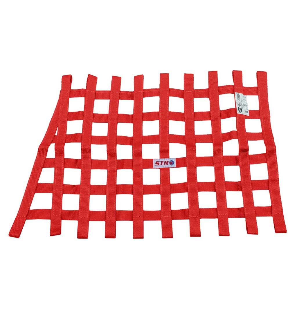 Trapezoidal Window Net - Red