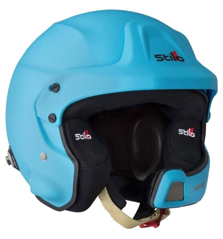 Stilo WRC Des Composite Helmet SA2015 + Hans Posts L (59) Blue