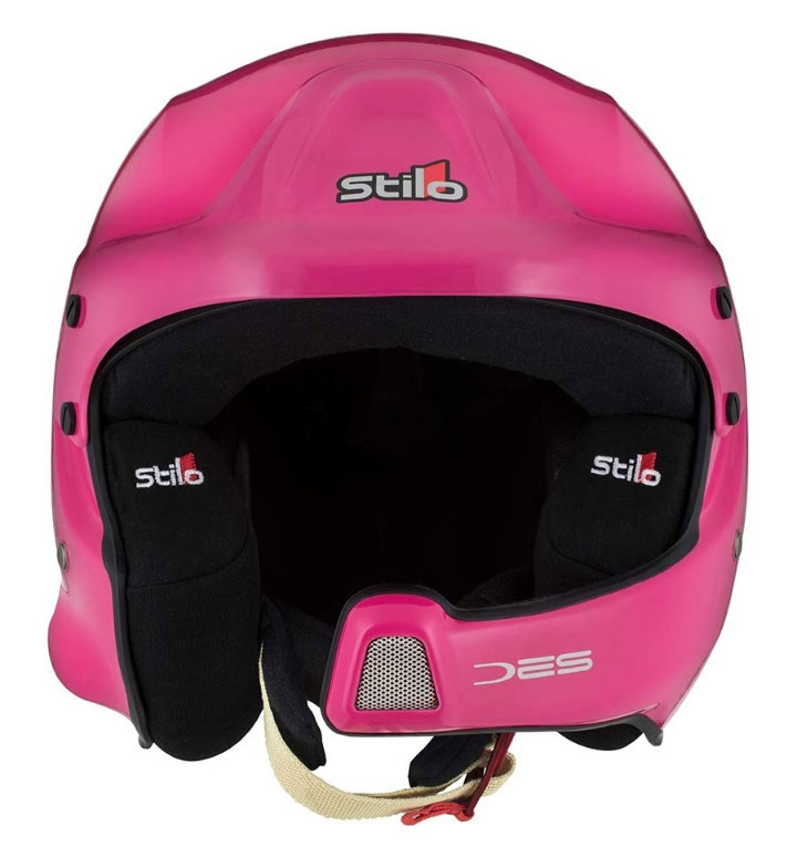 Stilo WRC Des Composite Helmet SA2015 + Hans Posts M (57) Pink