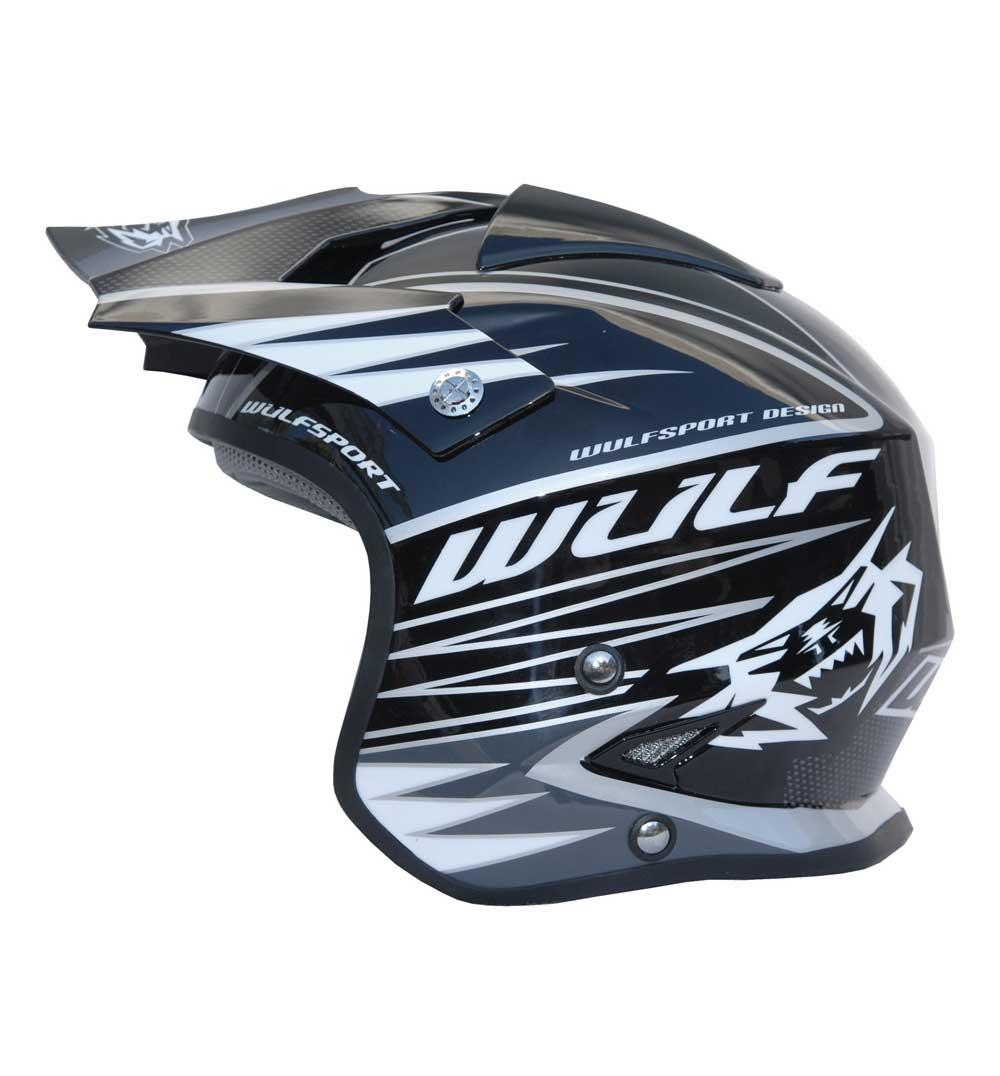 Wulfsport Tri Action Helmet - ECE R 2205 - Black