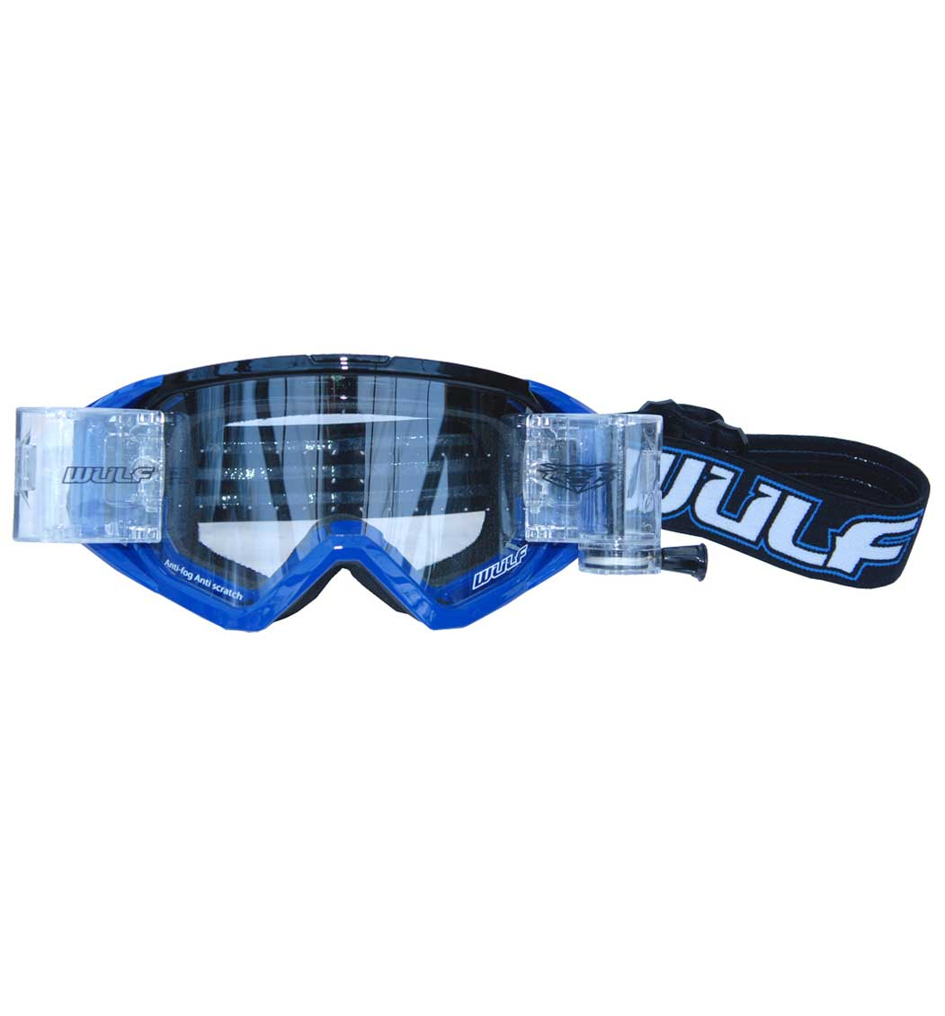 Wulfsport New Wide Vision Racer Pack - Tear Offs - Blue