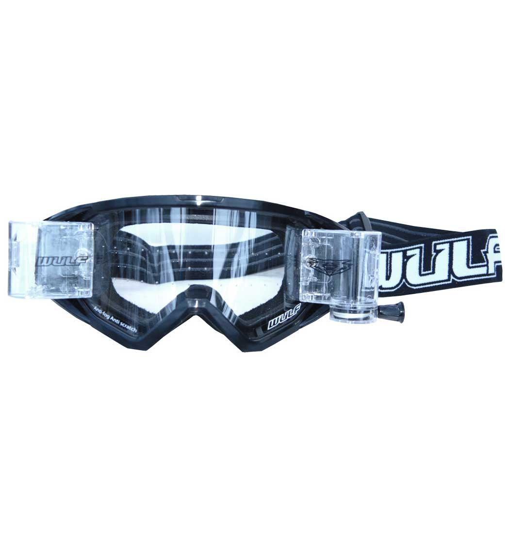 Wulfsport New Wide Vision Racer Pack - Tear Offs - Black