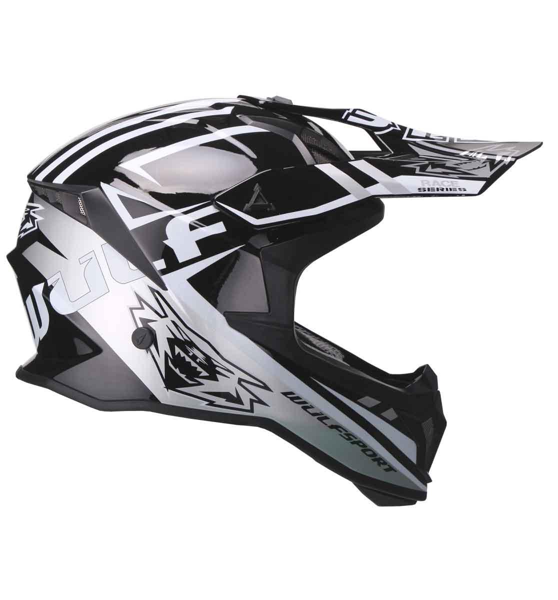 Wulfsport Race Series Helmet | Black | Medium (57-58cm)