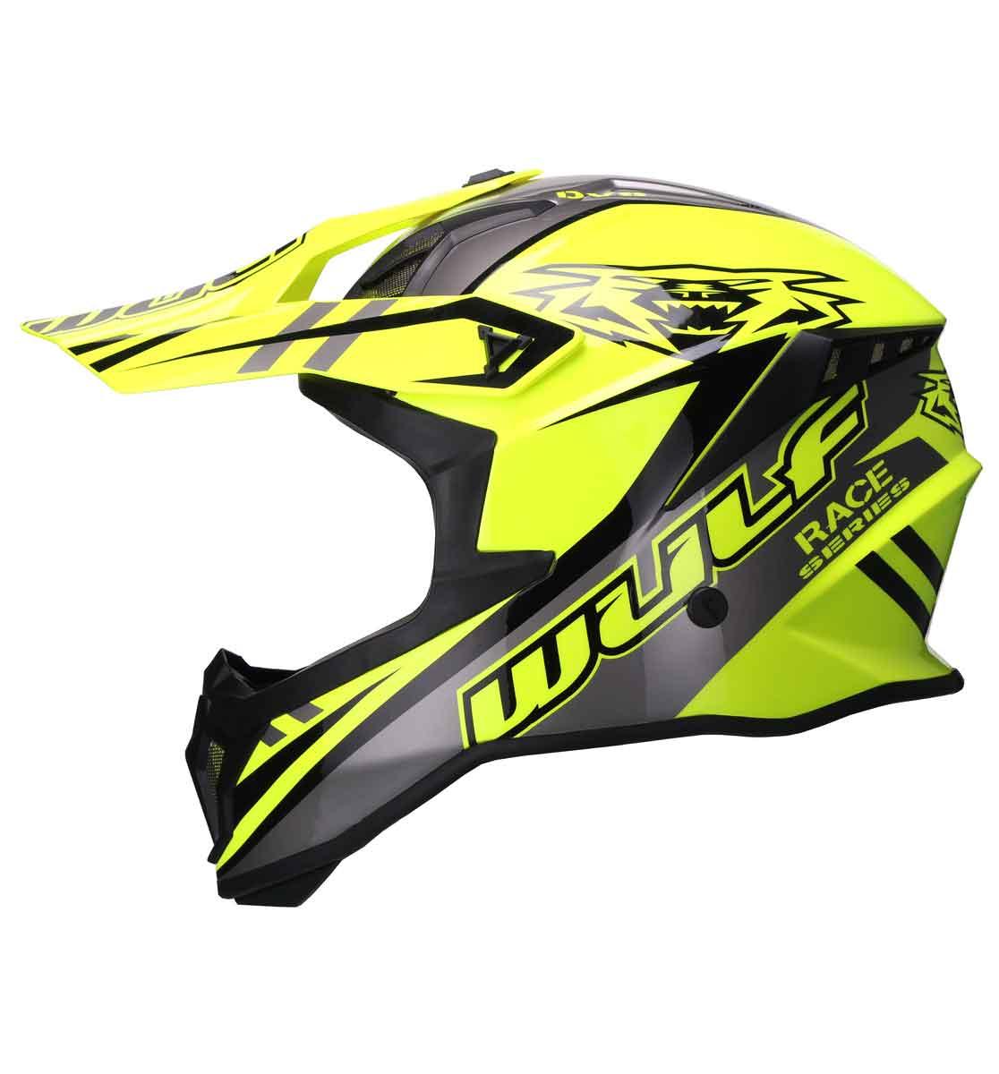 Wulfsport Race Series Helmet - ECE R 2205 - Yellow